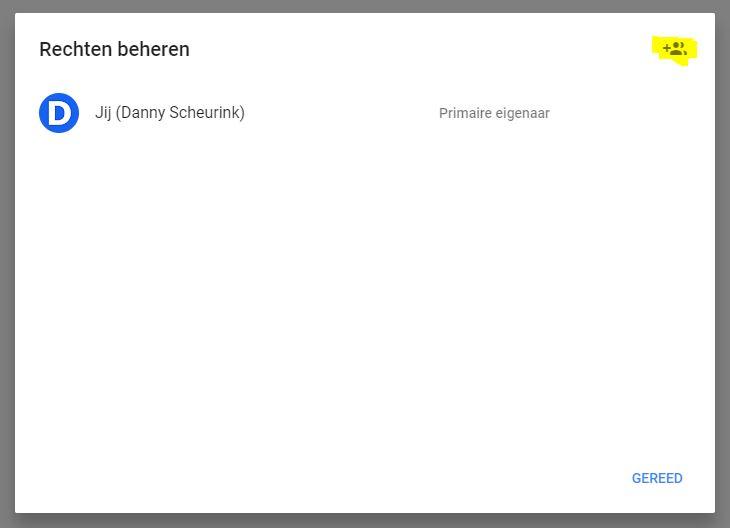 Gebruiker toevoegen in Google Mijn Bedrijf | Danny Scheurink